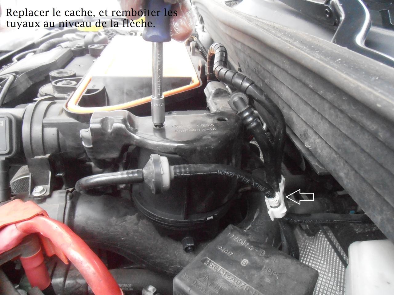Changement d'un Filtre à gazole Ford Fiesta TDCI 1.4 2008